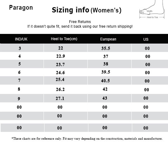 Bata Men Size Chart